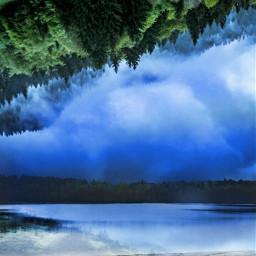 beach reflection sky landscape drama