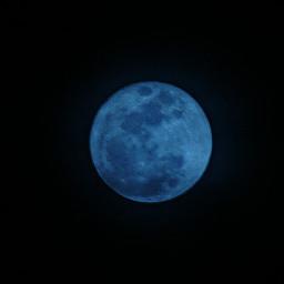 moon blue macro freetoedit