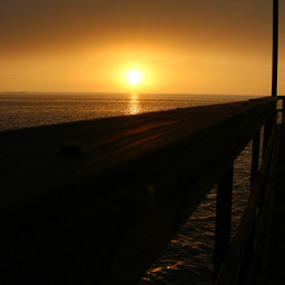 Fog sunrise oceanview ocean pier sun dockside beach ocean